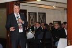 PD Dr. Roger Eibel bei der Eröffnung der feierlichen Abendveranstaltung des Radiologiekongress Nord auf einem Segelschiff im Hamburger Hafen.