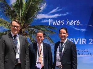 PD Dr. Peter Isfort, Prof. Dr. Moritz Wildgruber und Prof. Dr. Marcus Katoh auf dem Kongress der ISVIR in Indien.