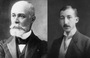 Antoine Henri Becquerel (li.) und George de Hevesy