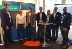 """Reger Betrieb herrschte am """"Health Pavillon"""", der zum IROS 2019 erstmals präsentiert wurde."""
