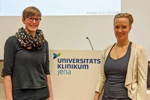 Die Preisträgerinnen Dr. Jessica Rodigas (l.) und Dr. Hanne Kirsch (r.).