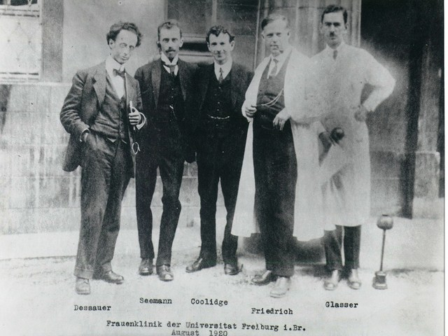 v.l.n.r.: Dessauer, Seemann, Coolidge, Friedrich, Glasser