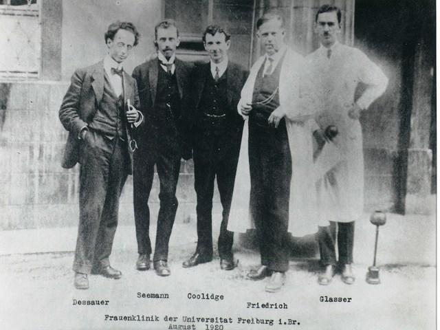 v.l.n.r.: Dessauer, Seemann, Coolidge, Friedrich, Glasser