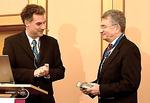 Der Begründer der Kardiodiagnostiktage, Prof. Dr. Claussen (re.), mit dem Laudator, Prof. Dr. Miller.