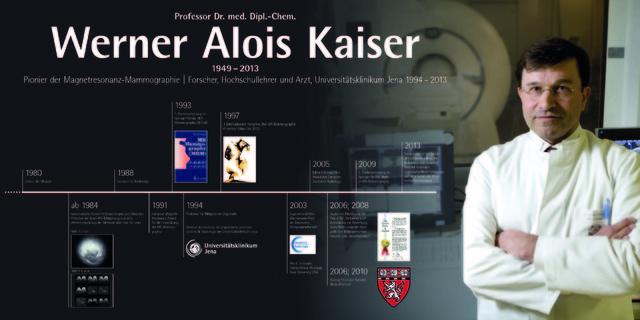 Gedenktafel für Prof. Werner Kaiser.