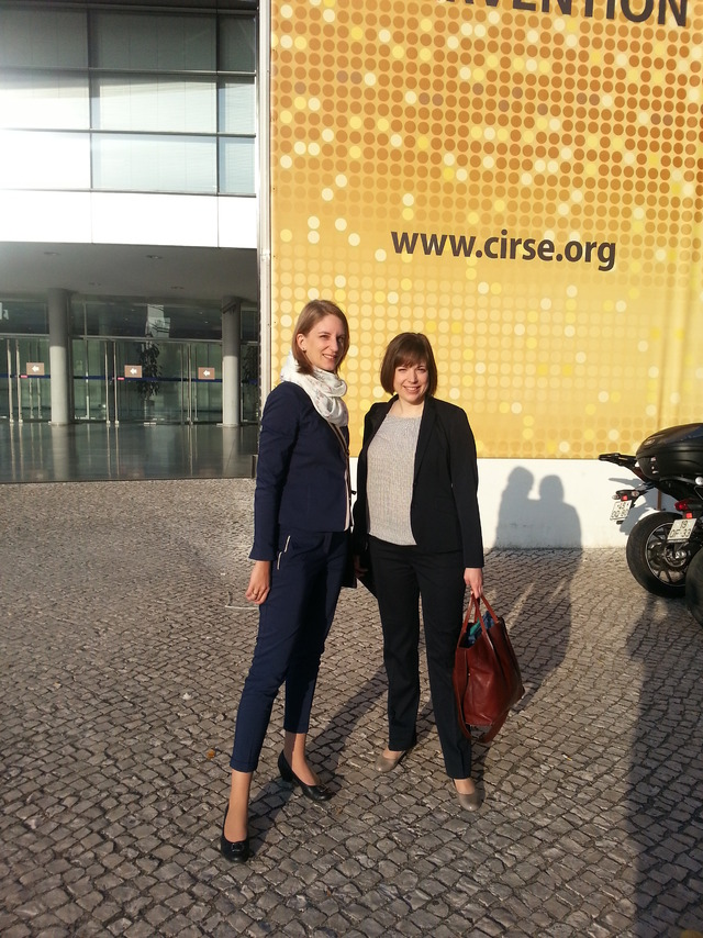 Die DRG-Delegation vor dem Kongresscenter in Lissabon